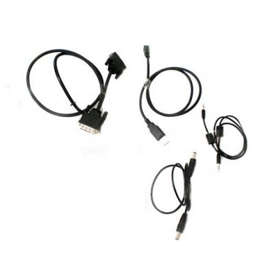 HP Display cable kit - Includes USB A cable, DC-in cable, DVI-D cable, and audio cable montagekit