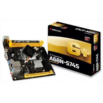 Biostar moederbord: AMD A70M, AMD A10-5745 2.1 GHz, Radeon HD8610G, 2x DDR3 1333 MHz, 1x PCI-E x16 2.0 (x8), 4x SATA3, .....