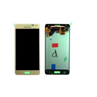 Samsung mobile phone spare part: SM-G850F Galaxy Alpha, Complete Display LCD+Touchscreen, gold