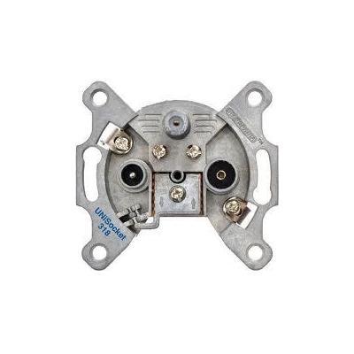 Spaun UNiSocket 318 Wandcontactdoos - Metallic
