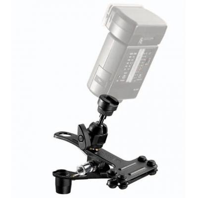 Manfrotto photo studio flash unit accessoire: Spring Clamp w/ shoeflash - Zwart