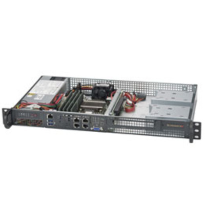 Supermicro 5018D-FN4T Server barebone - Zwart, Zilver