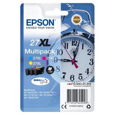 Epson inktcartridge: C13T27154022 - Cyaan, Magenta, Geel