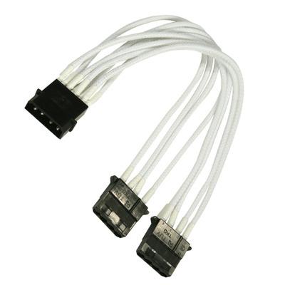 Nanoxia Molex Kabel adapter - Zwart, Wit