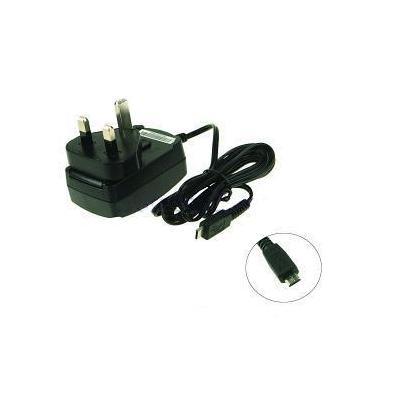 2-power oplader: Mobile Phone AC Adapter, micro-USB, 230V, Black, UK - Zwart