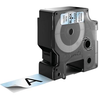 DYMO D1 -Standard Labels - Black on Transparent - 24mm x 7m Labelprinter tape