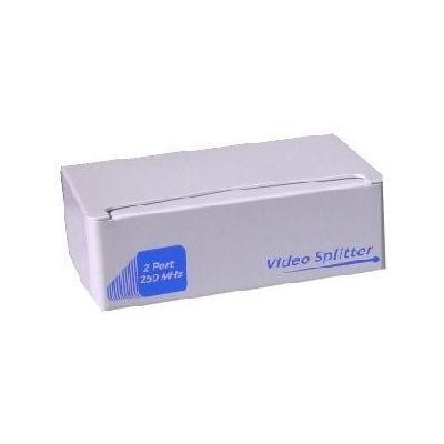 "Microconnect video splitter: VGA SPLITTER, 2.54 cm (1 "") 2 out - Zilver"