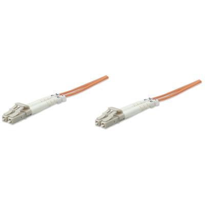 Intellinet 5.0m LC M/M Fiber optic kabel - Oranje