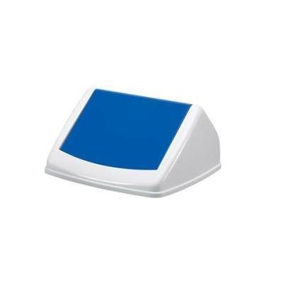 Durable Durabin Flip Lid Square, 40L, Blue Vuilnisbak - Blauw