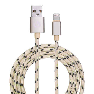 Garbot Grab&Go 1m Braided Lightning Cable, Gold Kabel - Goud