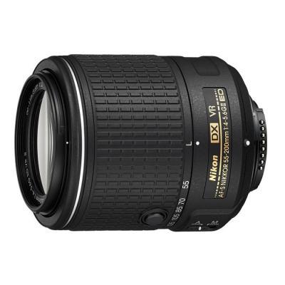 Nikon camera lens: AF-S DX NIKKOR 55-200mm f/4-5.6G ED VR II - Zwart