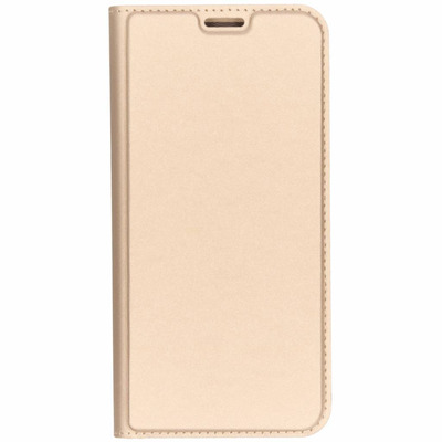 Slim Softcase Booktype Samsung Galaxy J4 Plus - Goud / Gold Mobile phone case