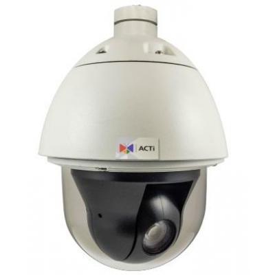 "Acti beveiligingscamera: 4MP, 1/3"" CMOS, 30fps@1080p, 33x Zoom, 360°, IP67/IK10 - Wit"