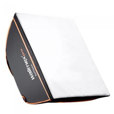 Walimex softbox: pro Softbox OL 60x60cm pro & K - Zwart, Wit