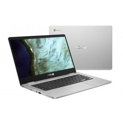 """ASUS Chromebook C423NA-EB0063 14"""" Pentium 4GB RAM 64GB eMMC Laptop - Zilver"""