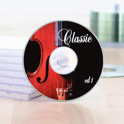 Herma etiket: Inkjet CD labels A4 Ø 116 mm white paper glossy 20 pcs. - Wit