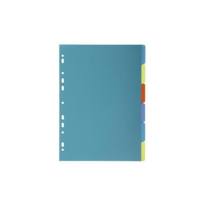 Exacompta schutkaart: 6 Tabs, A4 - Multi kleuren