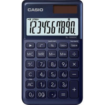 Casio BIG LC-display 10 digit, 1x LR54, 55g Calculator - Blauw