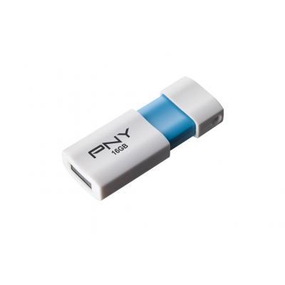 PNY 16GB Wave Attaché 2.0 USB flash drive - Blauw, Wit