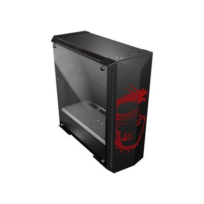 MSI Mid-Tower, 2 x USB 3.0 + HD Audio/Mic, 9.25kg Behuizing - Zwart