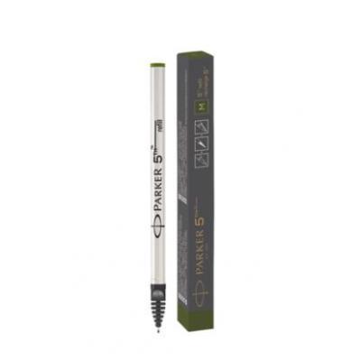 Parker pen-hervulling: 5TH, Medium, Olive Green ink - Zwart, Wit
