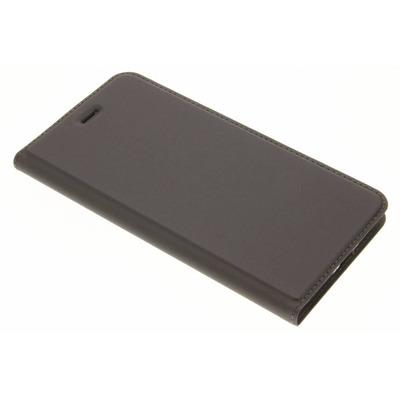 Slim Softcase Booktype iPhone 8 Plus / 7 Plus - Grijs / Grey Mobile phone case