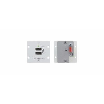 Kramer Electronics Wall Plate Insert — Dual USB Charger, Grey - Grijs