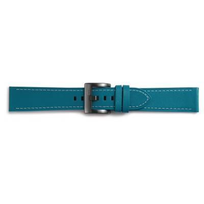 Samsung horloge-band: Classic Leather - Blauw