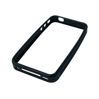 Sandberg mobile phone case: Soft frame Clear iPhone 4 - Zwart, Transparant