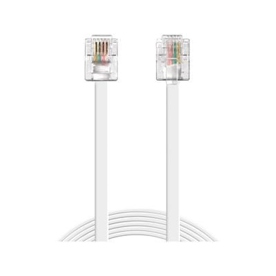Sandberg telefoon kabel: Telephone RJ11-RJ11 10m - Wit
