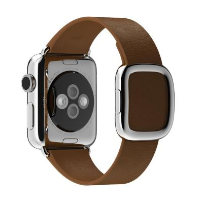 Apple horloge-band: 38mm Brown Modern Buckle, Medium - Bruin