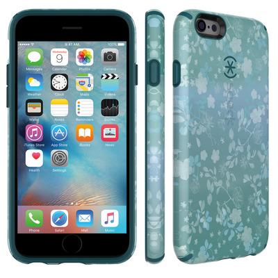 Speck iPhone 6 / 6s CandyShell Inked (Overlay Floral Aqua / Atlantic Green) Apparatuurtas