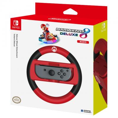 Hori : Mario Kart 8 Deluxe Racing Wheel Mario, Nintendo Switch - Rood