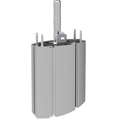 SmartMetals Verlengstuk 350 mm voor volledig deelbaar statief Montagekit - Grijs