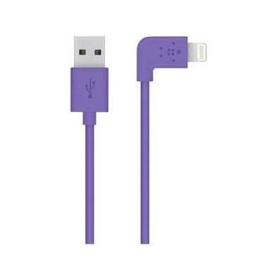 Belkin USB kabel: Flat Lightning - Paars