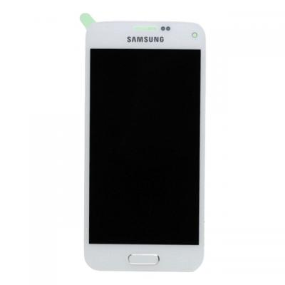 Samsung SM-G800F Galaxy S5 Mini, Complete Front+LCD+Touchscreen, white Mobile phone spare part