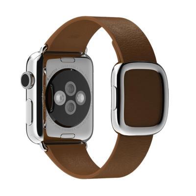Apple horloge-band: 38mm Brown Modern Buckle, Small - Bruin