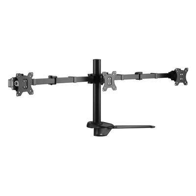 "Equip 17""-27"" Articulating Triple Monitor Tabletop Stand Monitorarm - Zwart"