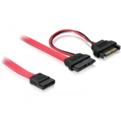 DeLOCK SATA cable, 0.5m ATA kabel - Rood