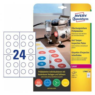 Avery L7806-10 Etiket - Wit