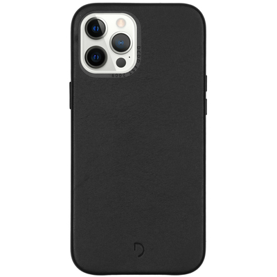 Decoded Leather Backcover iPhone 12 Pro Max - Zwart - Zwart / Black Mobile phone case