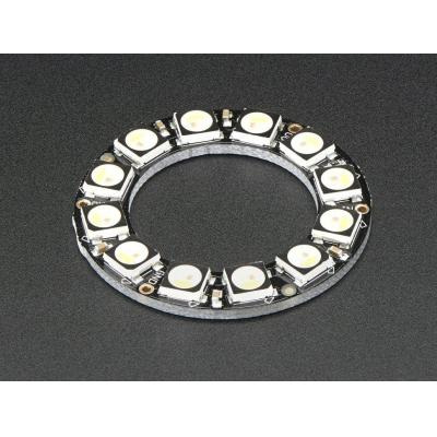 Adafruit decoratieve verlichting: 12x 5050 RGBW LEDs, Natural White, 4500K - Zwart