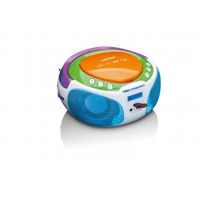 Lenco CD-radio: Portable DAB+, FM radio with CD MP3 and USB player - Multi kleuren