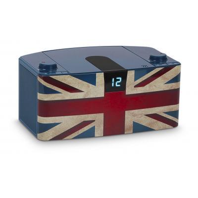 Bigben interactive CD-radio: Draagbare radio / CD speler met Bluetooth - Blauw, Rood, Wit