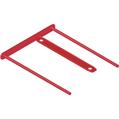 Fellowes BBD-Clip Red Paperclip - Rood