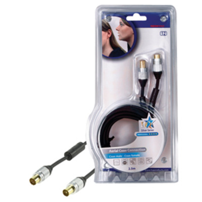 Hq coax kabel: SS5015/2.5 - Zwart