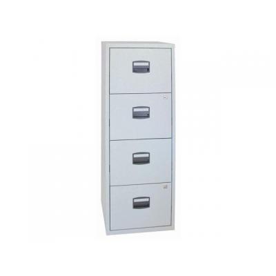 Bisley archiefkast: Ladenkast 4 x A-lade lichtgrijs