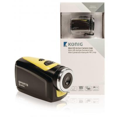 "König actiesport camera: 3.302 cm (1.3 "") CMOS, 1280x720 @30fps, 5MP (2592x1944), Micro SD, Mini USB, Lithium 220 ....."