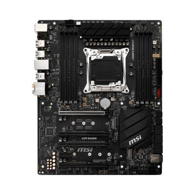 Msi moederbord: LGA2066, Intel X299, 8 x DDR4, 8 x SATA 6Gb/s, 2 x M.2, Realtek ALC1220, 1 x Intel I219-V, 30.5 cm x .....