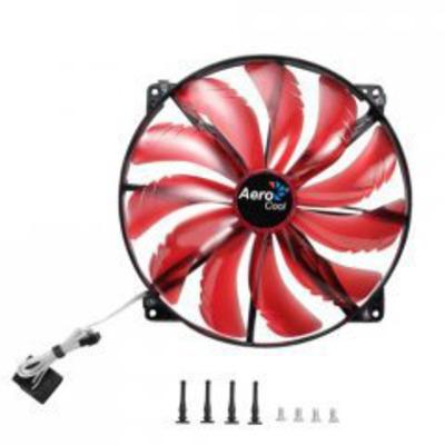 Aerocool Hardware koeling: Silent Master 200mm - Zwart, Rood